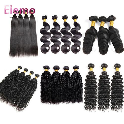 All Texture Peruvian Virgin Hair Bundles 4PCS/Lot