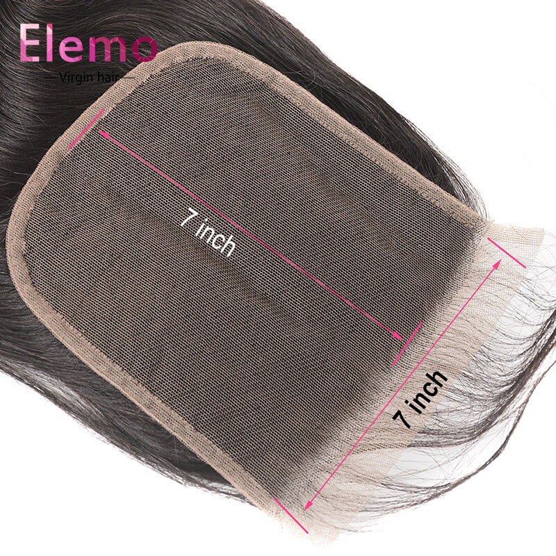 Straight 7x7 Closure Free Part Human Hair Lace Closure With Baby Hair