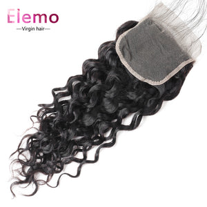 Water Wave Lace Closure 4×4 Three/Middle/Free Part