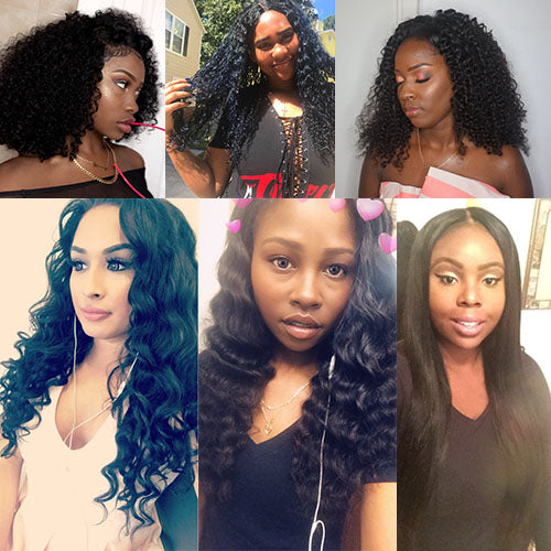 All Textures Malaysian Virgin Hair 3 PCS/Lot