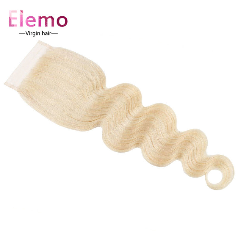Elemo 613 Blonde Body Wave 4×4 Lace Closure Free Part