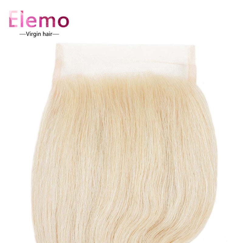 Elemo 613 Blonde Color Straight 4×4 Lace Closure