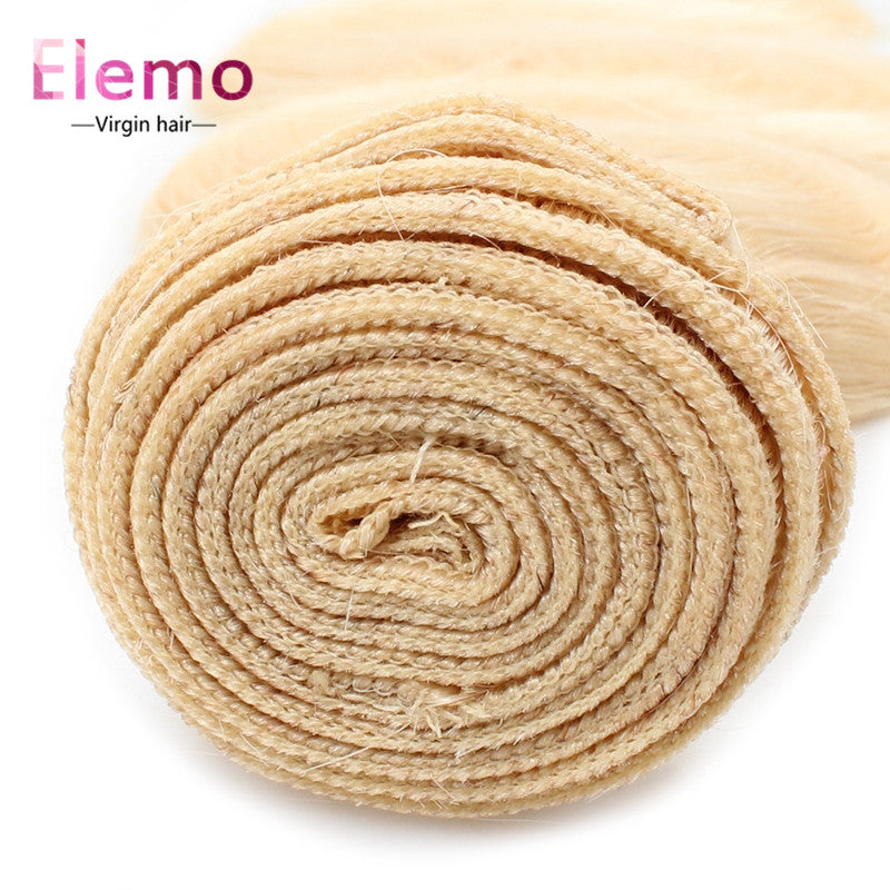 Elemo Human Virgin Hair 613 Blonde Body Wave Bundles