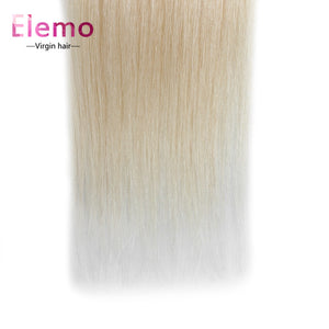 Elemo 100% Human Hair 613 Blonde Straight Hair Bundles