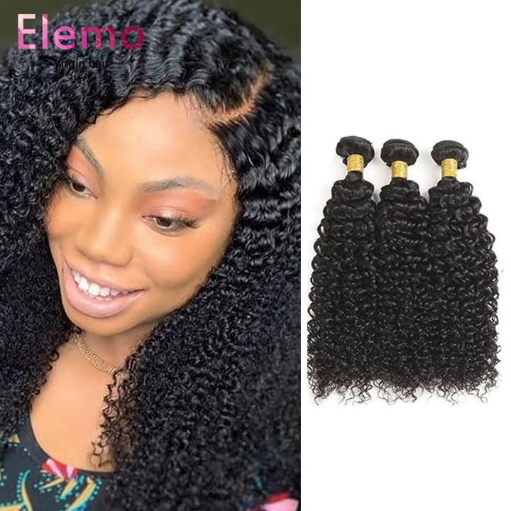 Peruvian Kinky Curly 3 Bundles+Closure