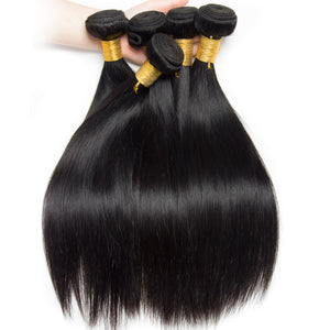 Peruvian Straight Hair Bundles 4 Bundles/Lot