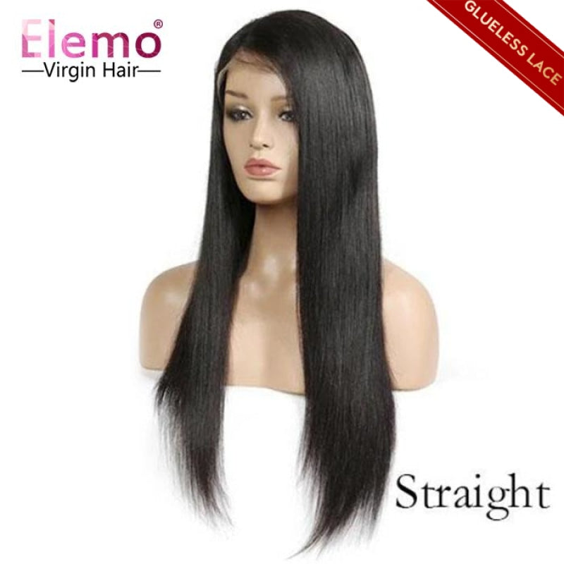 Straight lace closure wigs human hair wig
