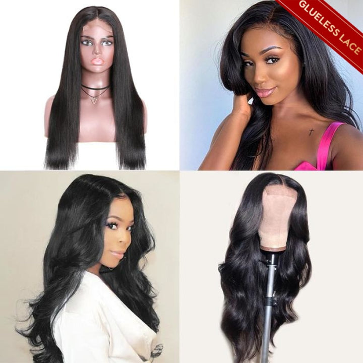 pre plucked lace closure wig human hair wigs