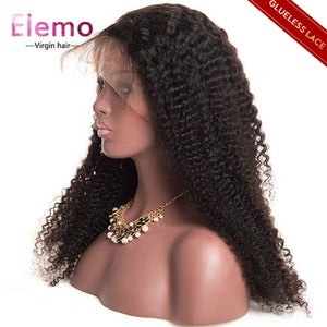 All Texture Lace Closure Wig Natural Color Virgin Hair