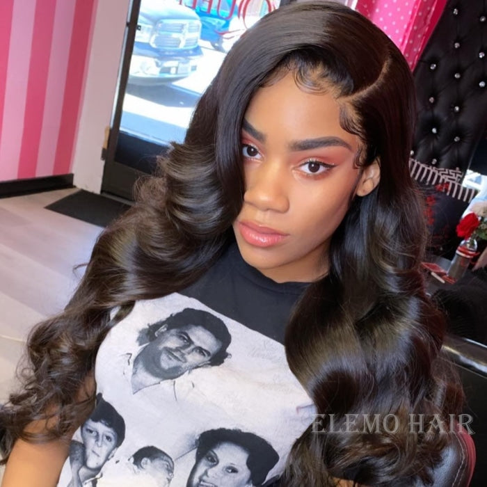 Brazilian Body Wave 3 Bundles With Lace Frontal Virgin Hair