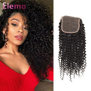 Brazilian Kinky Curly Hair 3 Bundles+ Closure Virgin