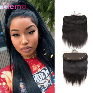 Brazilian Straight Lace Frontal With 3 Bundles Virgin Hair