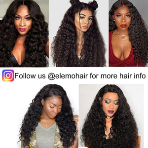 Brazilian Water Wave 3 Bundles With Lace Frontal Virgin Hair