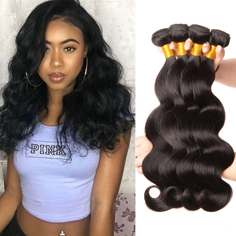 Brazilian Body Wave Virgin Hair Bundles 4PCS/Lot