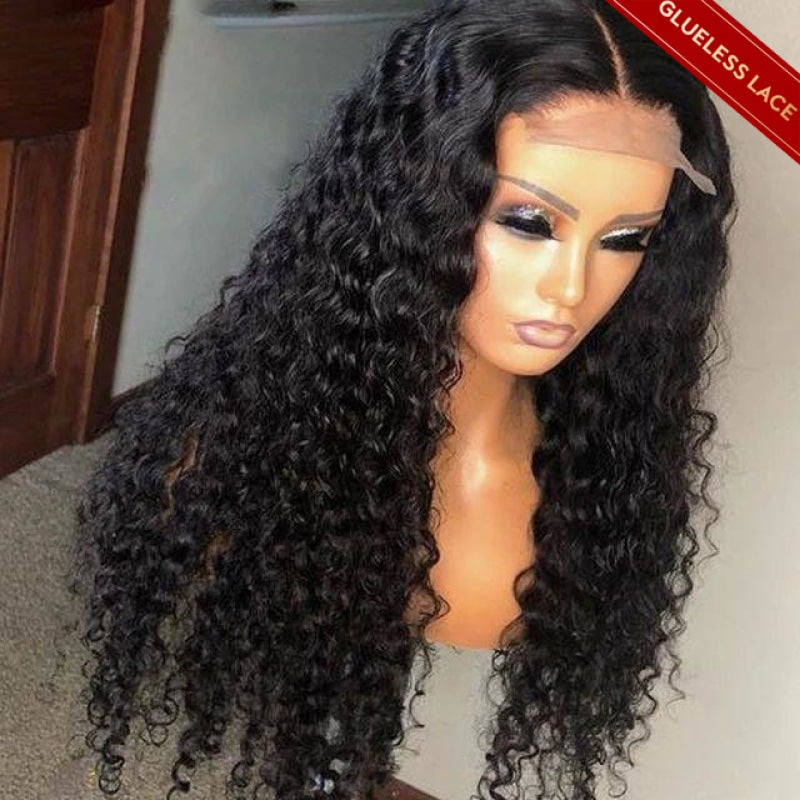 Deep Wave Lace Closure Wigs With Baby Hair