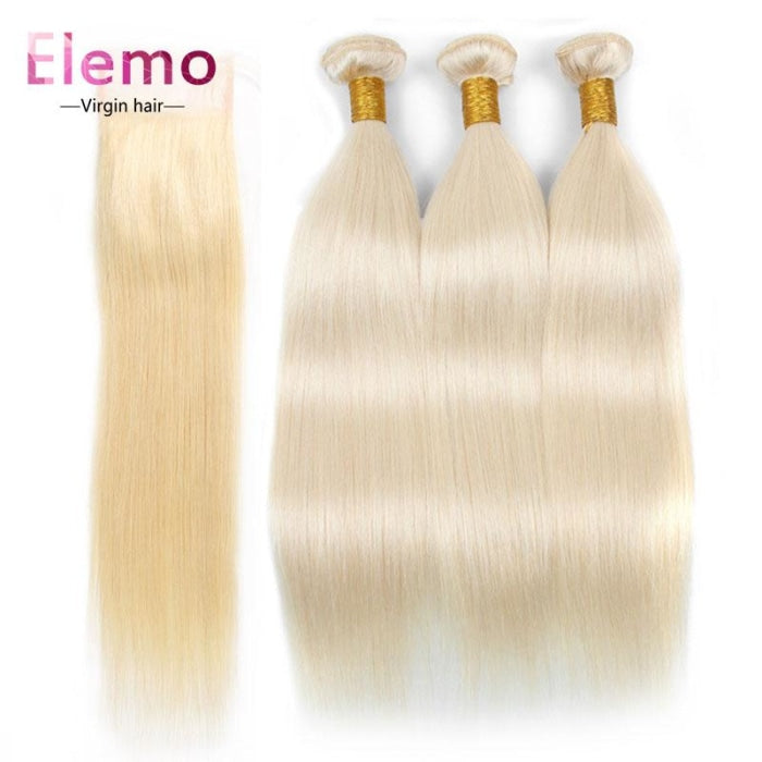 Elemo 613 Blonde Straight 3 Bundles With Closure