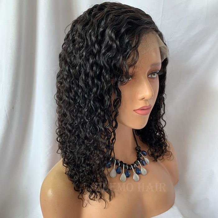 Elemo Hair Short Curly Bob Wig Lace Front Wigs