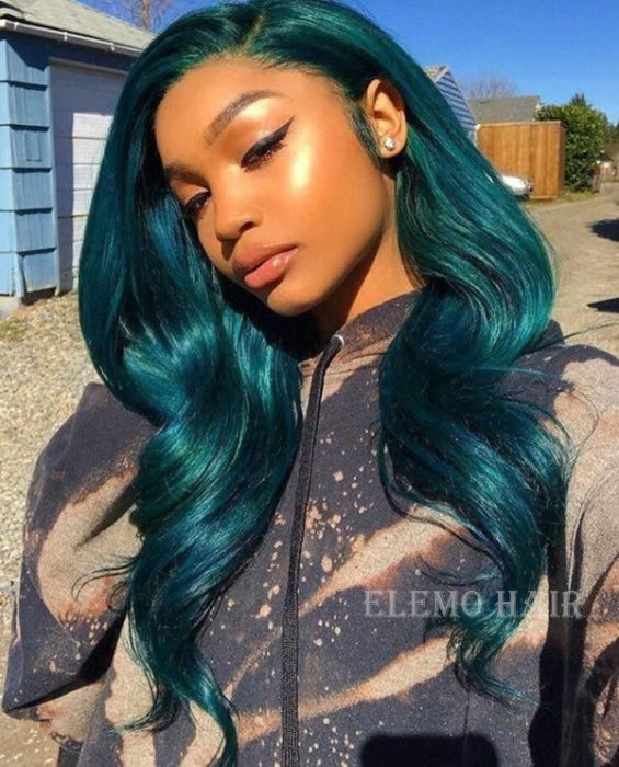Elemo Hair Stunning Aquamarine Body Wave Lace Front Wigs