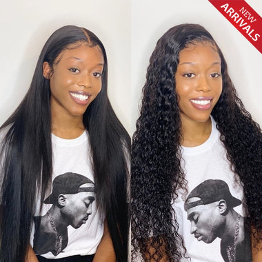 Glueless 13X6 T Part Lace Wigs Bleached Knots