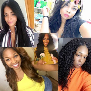 Indian 3 Bundles+Frontal All Textures Virgin Hair