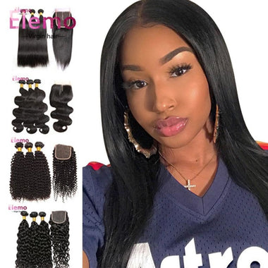 Indian All Textures 3 Bundles+Closure Virgin Hair