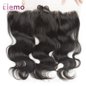 Indian Body Wave 3 Bundles With Lace Frontal Virgin Hair