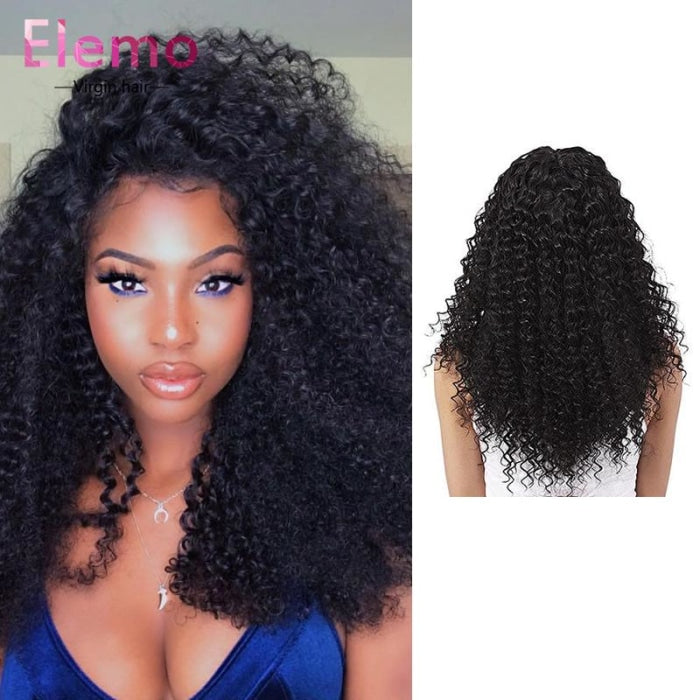 Indian Kinky Curly Lace Frontal+3 Bundles Virgin Hair