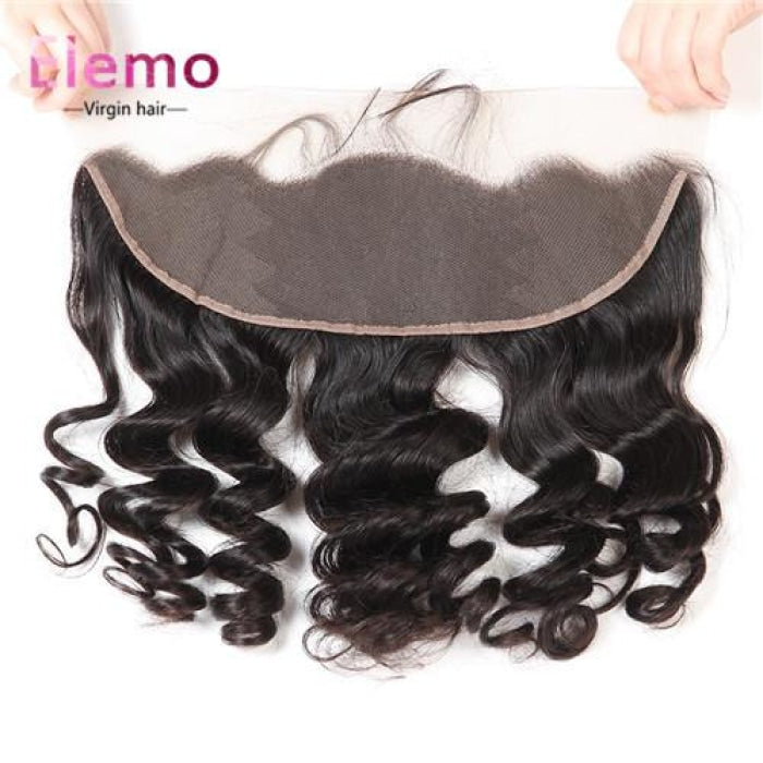Indian Loose Wave Lace Frontal With 3 Bundles Virgin Hair