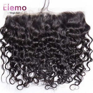 Indian Water Wave 3 Bundles With Lace Frontal Virgin Hair
