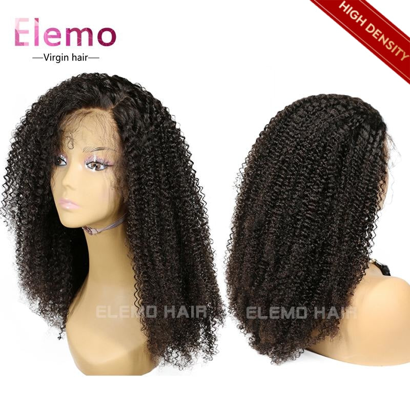 Kinky Curly 360 Lace Frontal Wig 100% Human Hair Virgin