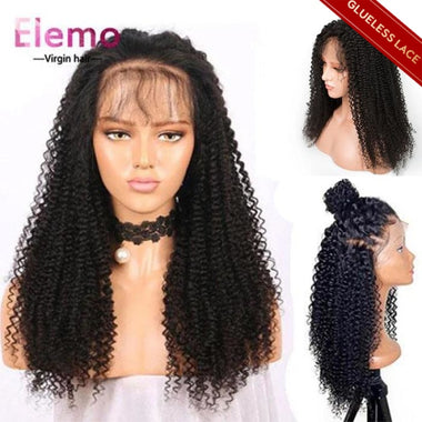 Lace Closure Wig Kinky Curly 100% Human Hair