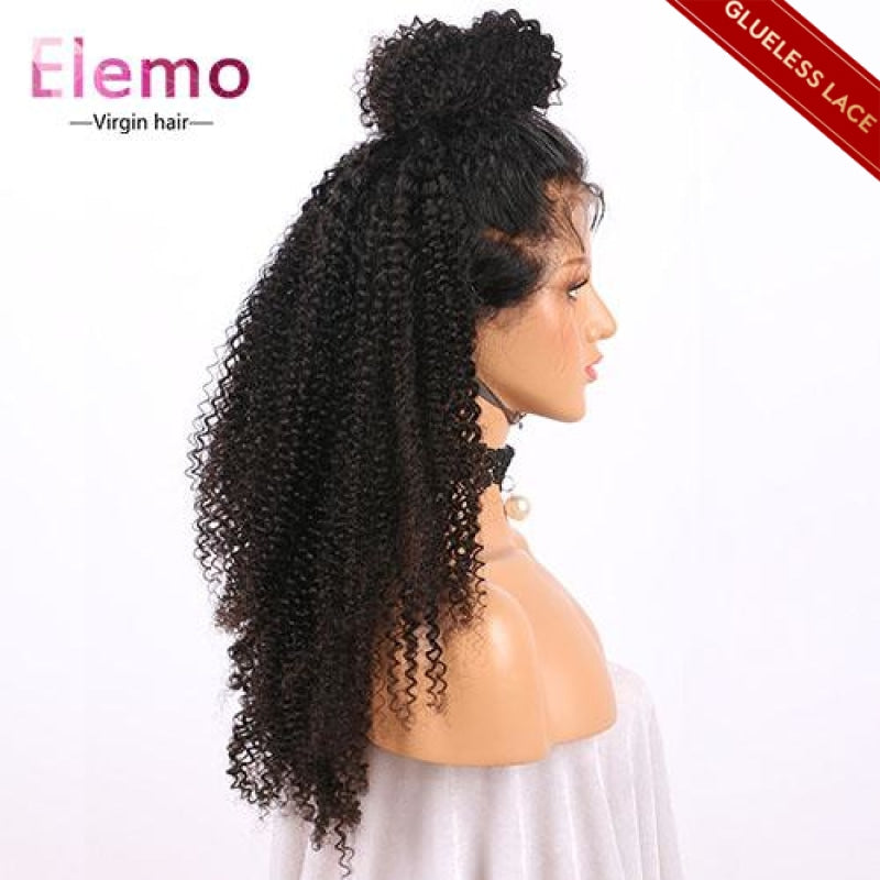 Lace Closure Wig Kinky Curly 100% Human Hair Virgin