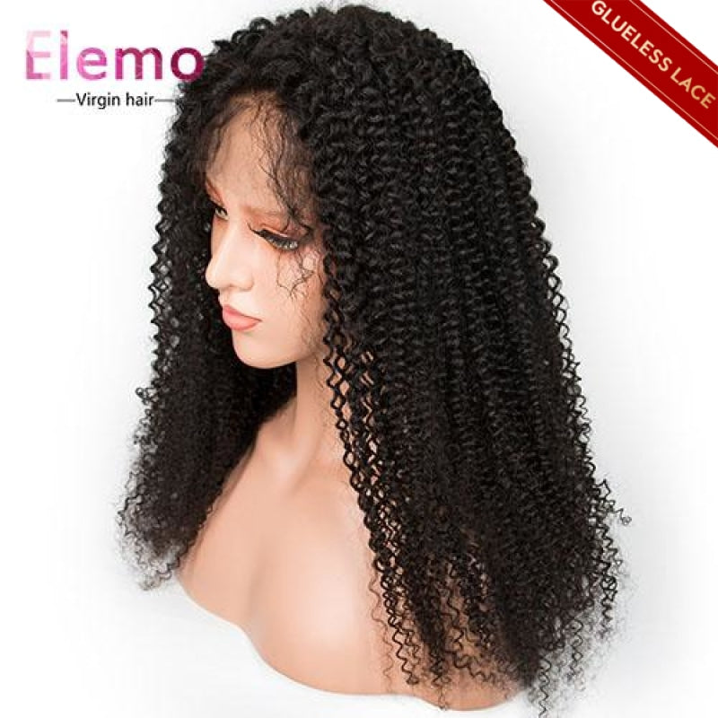 human hair kinky curly wig closure