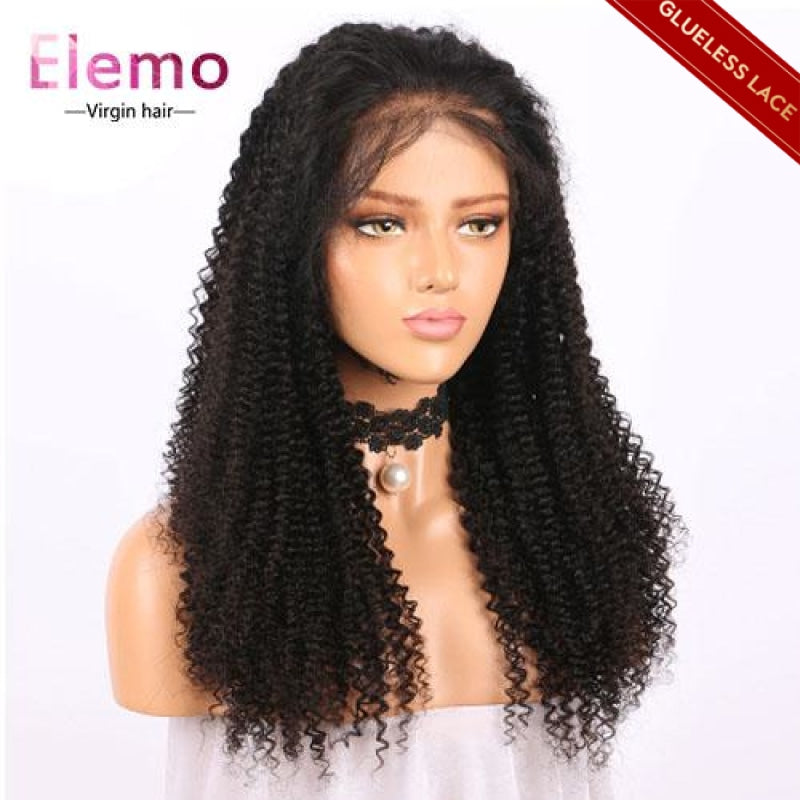 human hair kinky curly closure wig