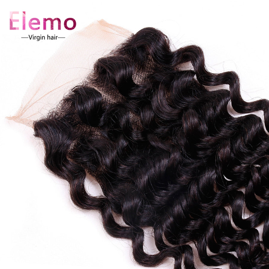 Deep Wave Lace Closure 4×4 Three/Middle/Free Part