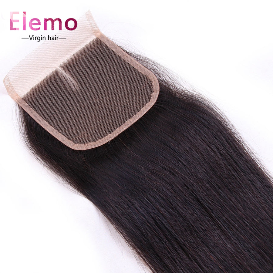 Straight Hair Lace Closure 4×4 Three/Middle/Free Part