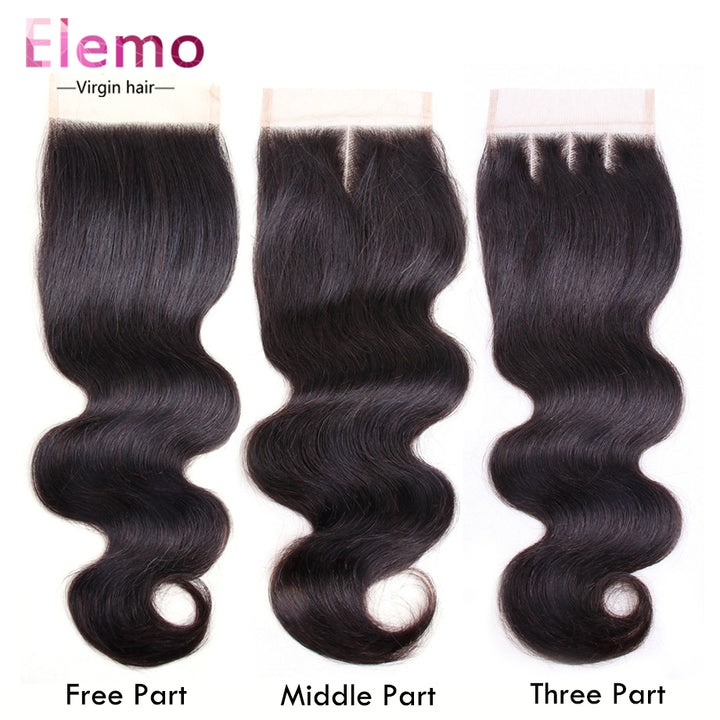 Body Wave Hair Lace Closure 4×4 Three/Middle/Free Part