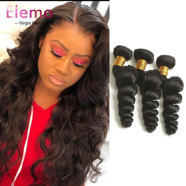 Loose Wave Peruvian Hair 3 Bundles+Closure Virgin