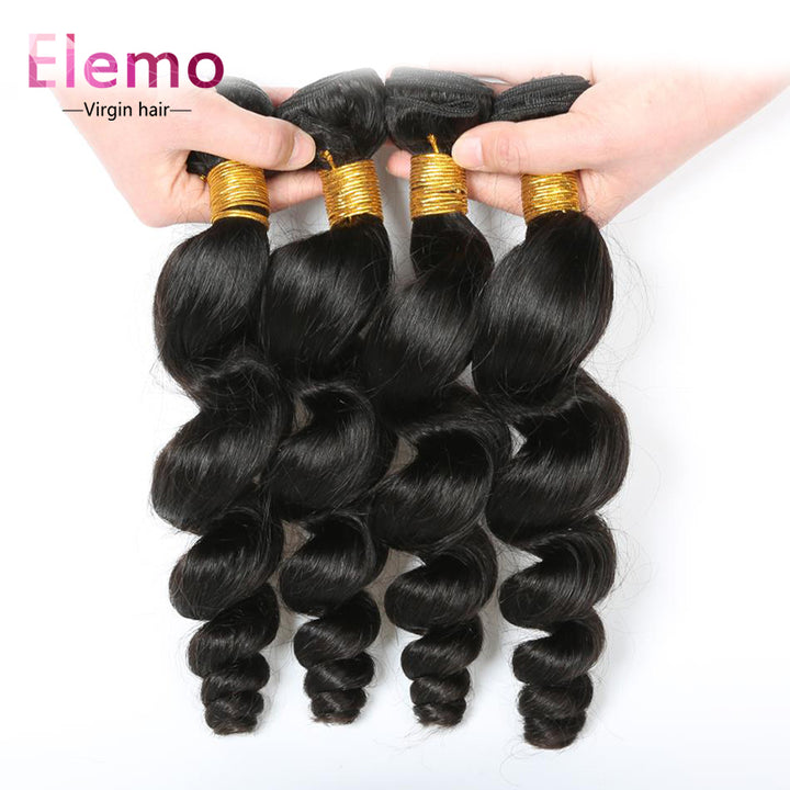 Peruvian Loose Wave Hair 4 Bundles/lot