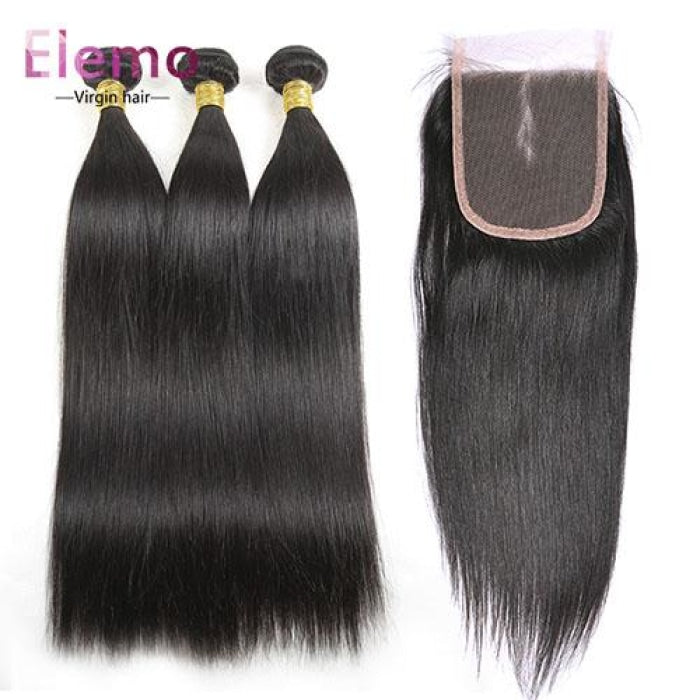 Malaysian All Textures 3 Bundles+Closure Virgin Hair
