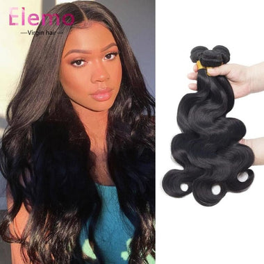 Malaysian Hair Body Wave 3 Bundles+Closure Virgin