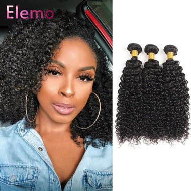 Malaysian Kinky Curly Lace Frontal With 3 Bundles Virgin Hair