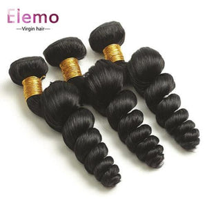 Malaysian Loose Wave 3 Bundles + Closure Virgin Hair