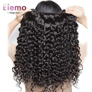 Malaysian Water Wave 3 Bundles With Lace Frontal Virgin Hair