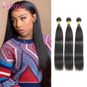 Peruvian Straight Hair 3 Bundles+Closure Virgin