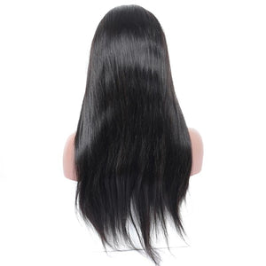 Pre-Plucked Best Virgin Straight Hair Full Lace Wig