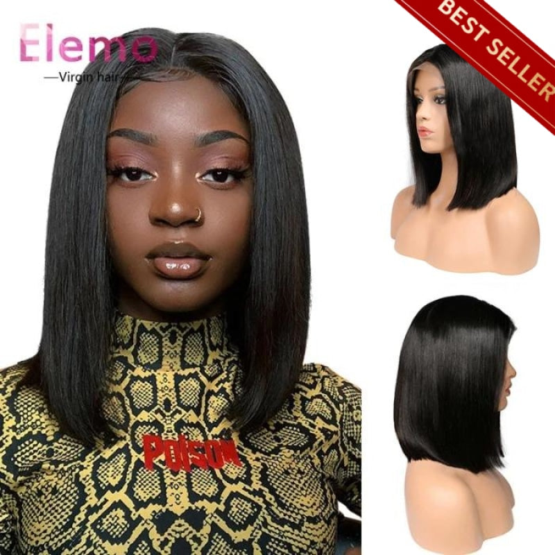 Straight Hair Bob Wig Virgin Human Lace Wigs