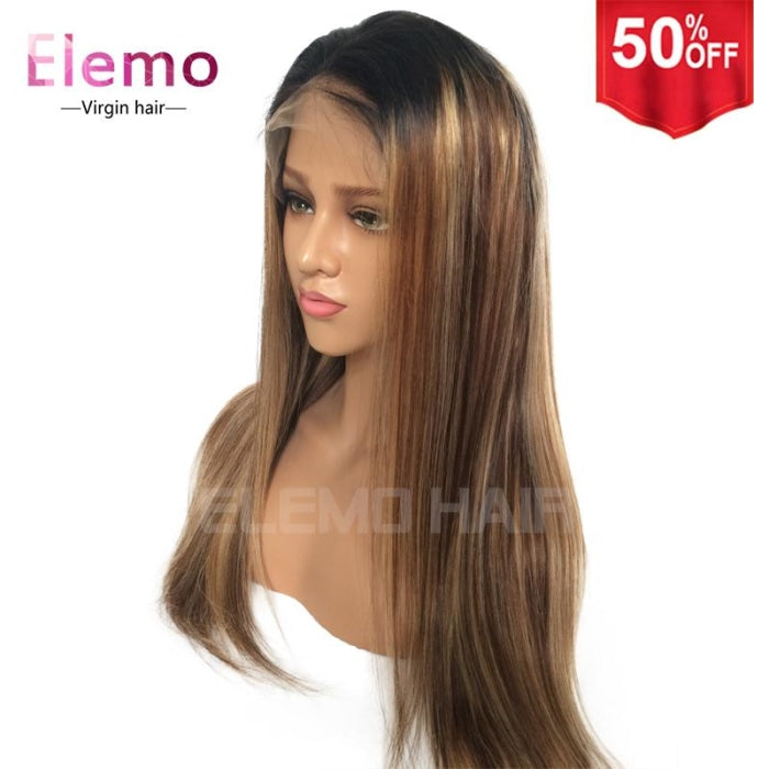 T1B/4/27 Ombre Color 13X6 Lace Front Wig