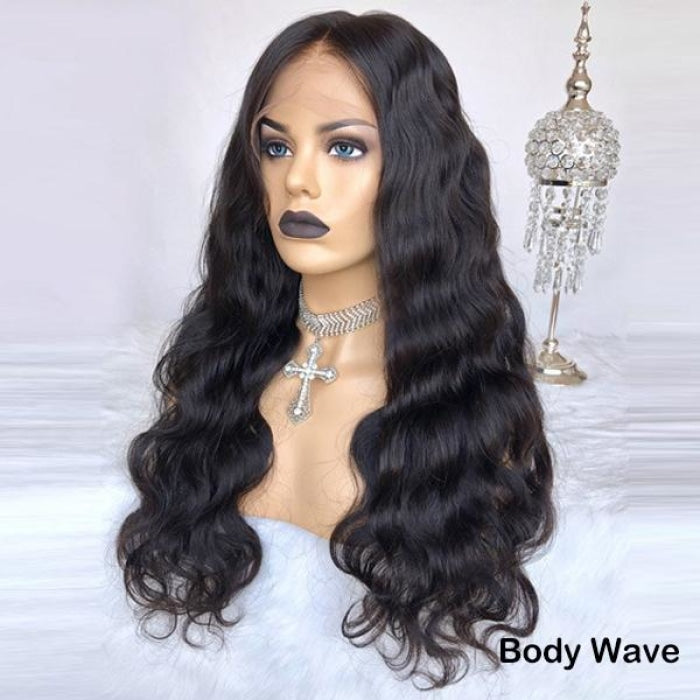 Undetectable Pre-Make Fake Scalp Glueless 13×6 Lace Front Wig Body Wave / 8 Inches