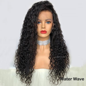 Undetectable Pre-Make Fake Scalp Glueless 13×6 Lace Front Wig Water Wave / 8 Inches